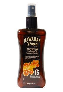 HAWAIIAN TROPIC Huile OIL - Spray 200ml SPF 15